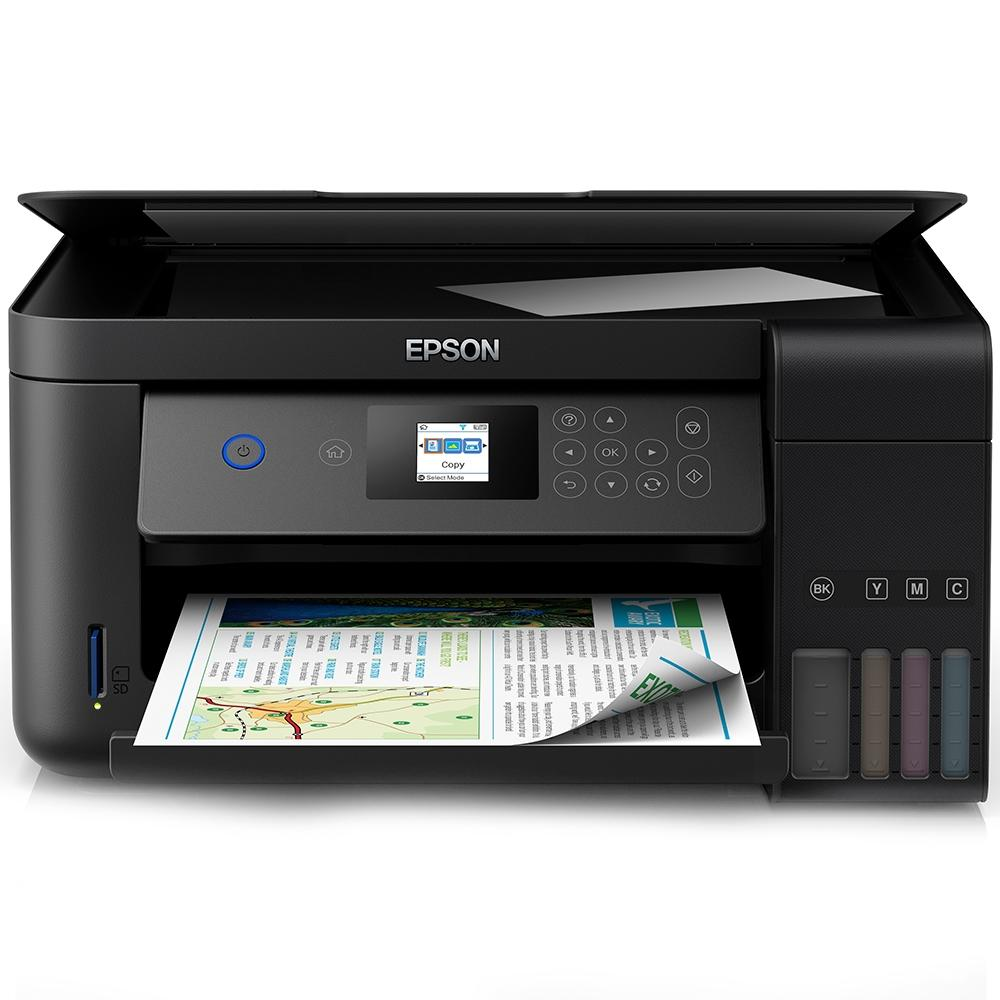 Multifuncional Epson EcoTank L4160, Jato de Tinta, Colorida, Wi-Fi, Bivolt - C11CG23302