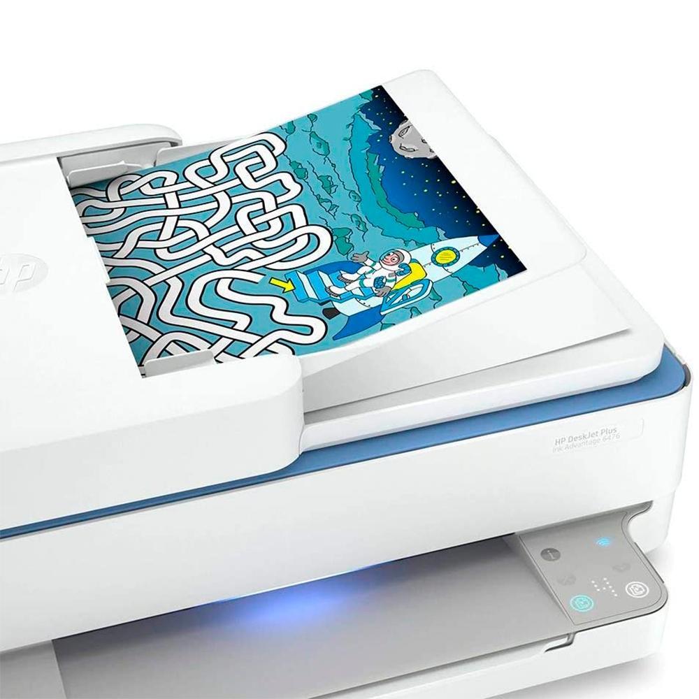 Multifuncional HP DeskJet Plus Ink Advantage 6476, Jato de Tinta, Colorida, Wi-Fi, Bivolt - 5SD79A