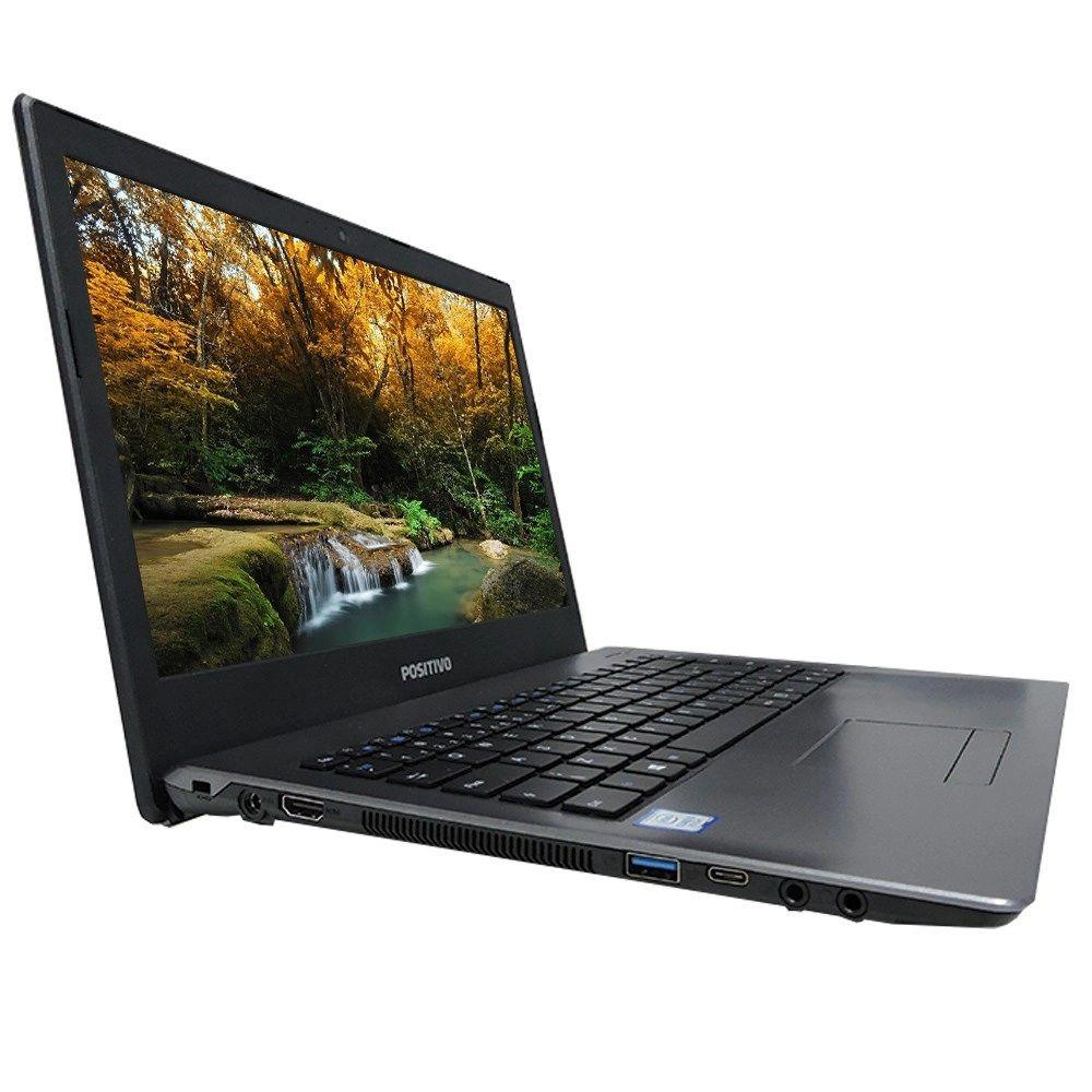 "Notebook Positivo Master N3140, 14"" Intel Core i3-7100U, 4GB, 1TB - Linux"