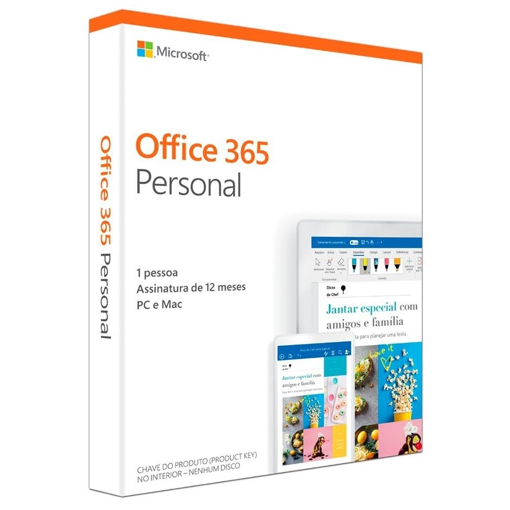 Pacote Microsoft Office 365 Personal - QQ2-00721