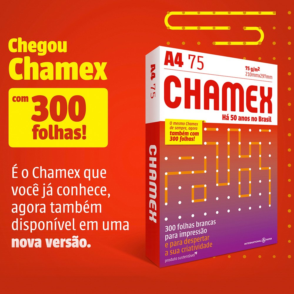 Papel Sulfite 75g Alcalino 210mmx297mm A4 Chamex Office Ipaper PT 300 Folhas