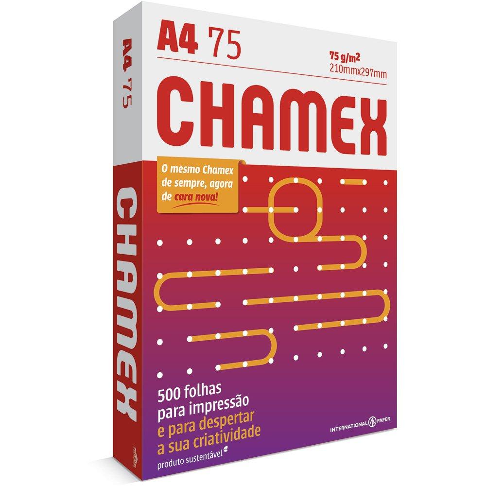 Papel Sulfite A4 Chamex, 210 x 297mm, 75grs, Pacote 500 Folhas, Branco