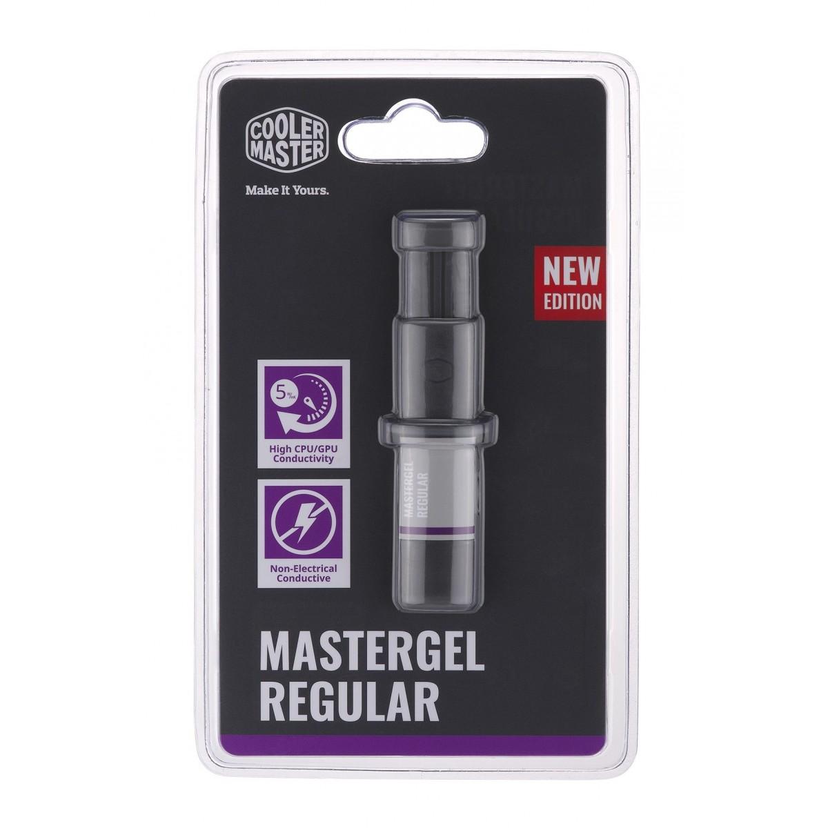 Pasta Térmica Cooler Master Mastergel Regular, 1.5ML, Cinza - MGX-ZOSG-N15M-R2