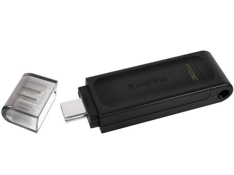Pen Drive 32GB Kingston Datatraveler 70 Gen 1 USB-C 3.2 - DT70/32GB