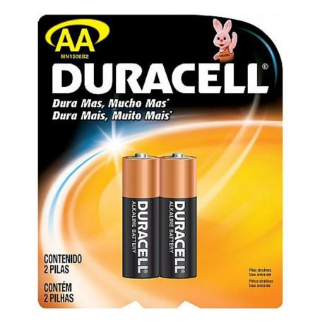Pilha Alcalina Aa Duracell 1,5V C/2 Unidades - MN1500
