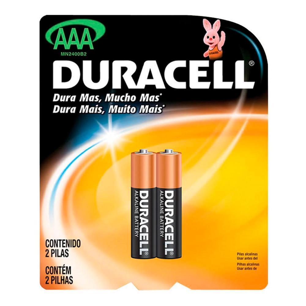 Pilha Alcalina Aaa Duracell 1,5V Mn2400 C/2 Unidades