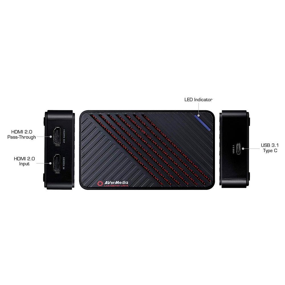 Placa de Captura Avermedia Live Gamer Ultra 4K30, USB 3.1 - GC553