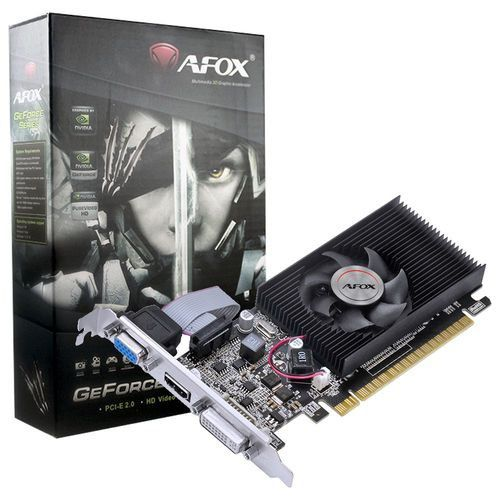 Placa de Vídeo AFOX Geforce GT 210,  1GB, DDR3, 64 BITS - AF210-1024D3L8(DDR3)
