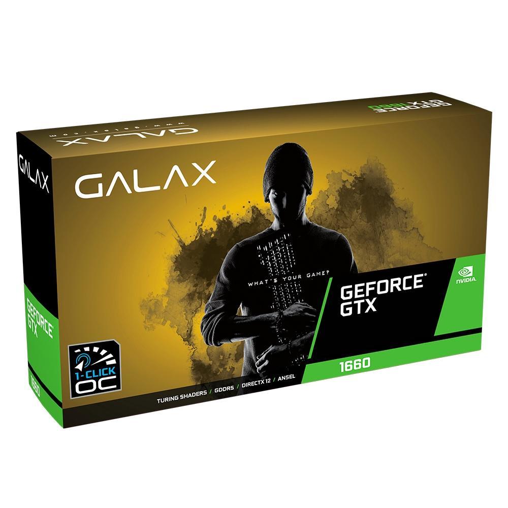 Placa de Vídeo Galax NVIDIA GeForce GTX 1660 1-Click OC, 6GB, GDDR5 - 60SRH7DSY91C
