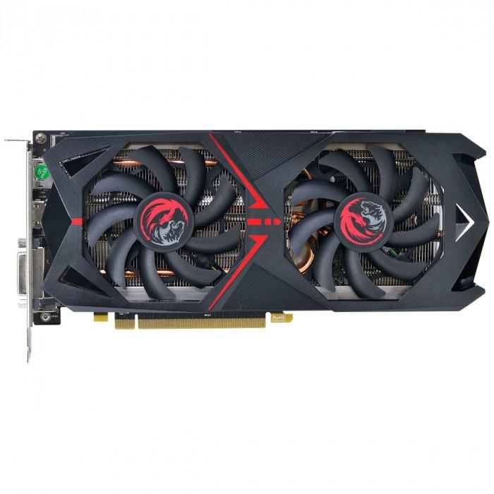Placa de Vídeo Pcyes AMD RX570 Dual Fan GDDR5 4GB 256 Bits - PJRX570G5256