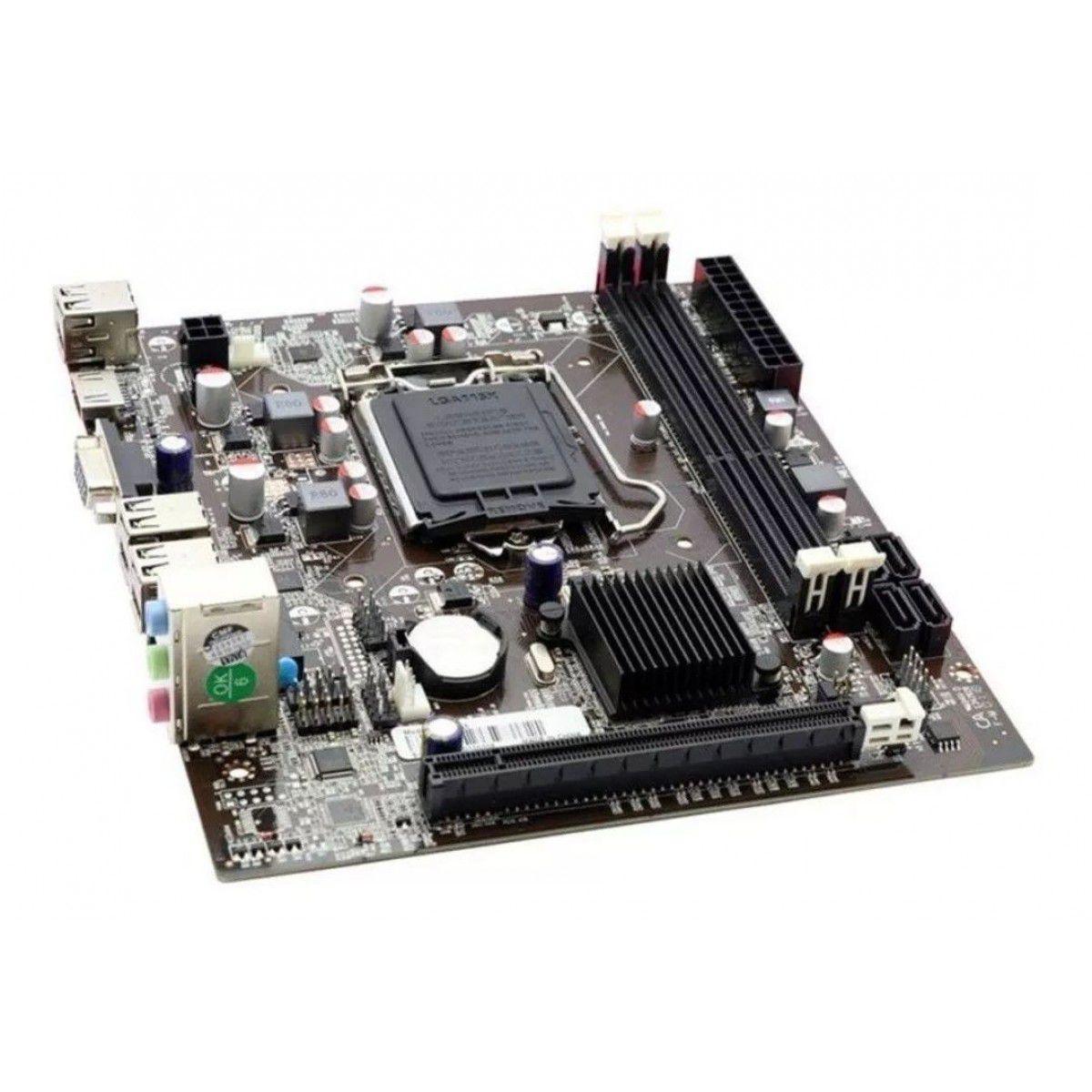 Placa Mãe Afox IH55-MA4 Chipset H55, Intel LGA 1156, mATX, DDR3