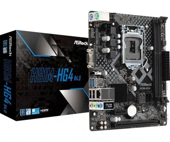 Placa Mãe AsRock H81M-HG4 R4.0, LGA 1150, DDR3, mATX, VGA e HDMI