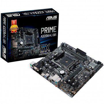 Placa Mãe Asus Prime A320M-K/BR, AMD AM4, mATX, DDR4 - PRIME A320M-K/BR