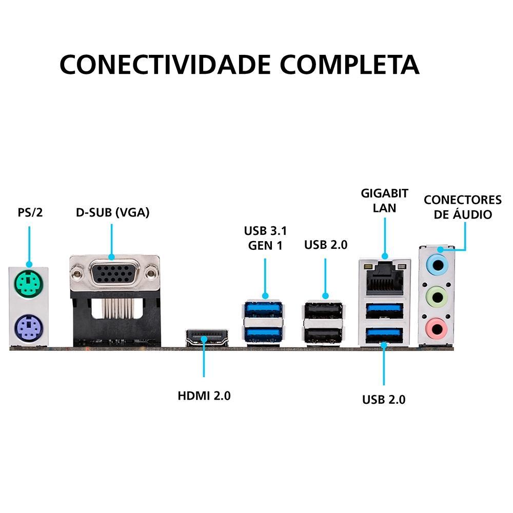 Placa Mãe Asus Prime A320M-K/BR, AMD AM4, mATX, DDR4 - 90MB0UW0-C1BAY0