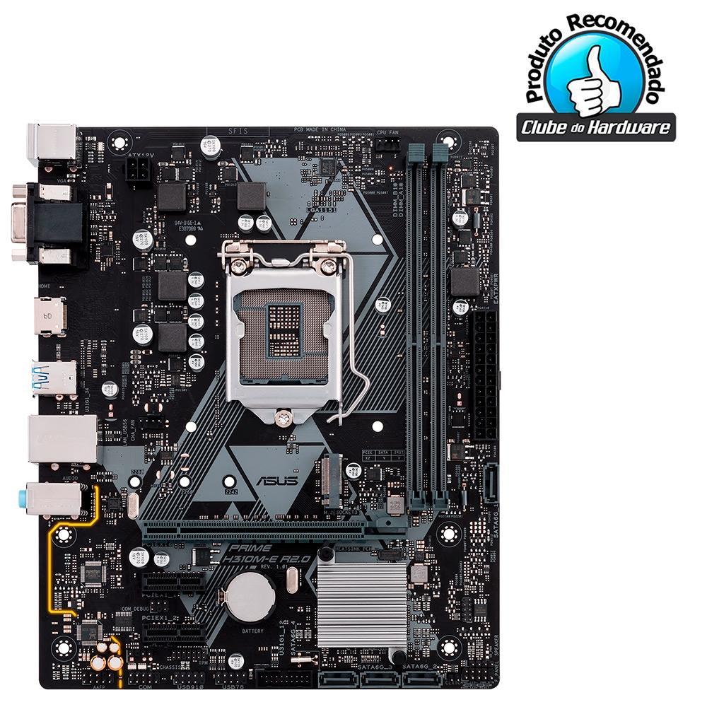 Placa Mãe Asus Prime H310M-E R2.0/BR, Intel LGA 1151, mATX, DDR4 - 90MB11X0-C1BAY0