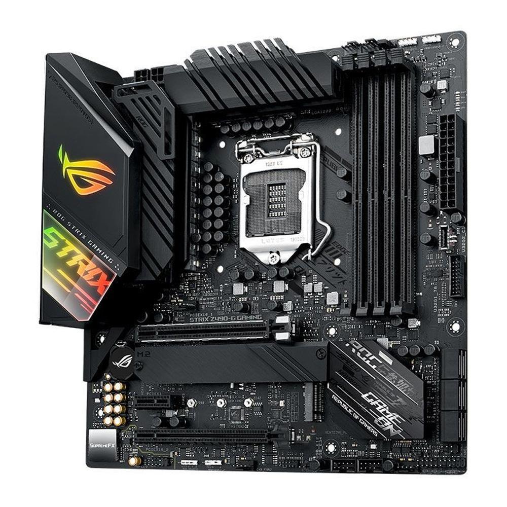 Placa Mãe Asus ROG STRIX Z490-G GAMING, Intel LGA 1200, mATX, DDR4 - 90MB12Z0-M0EAY0