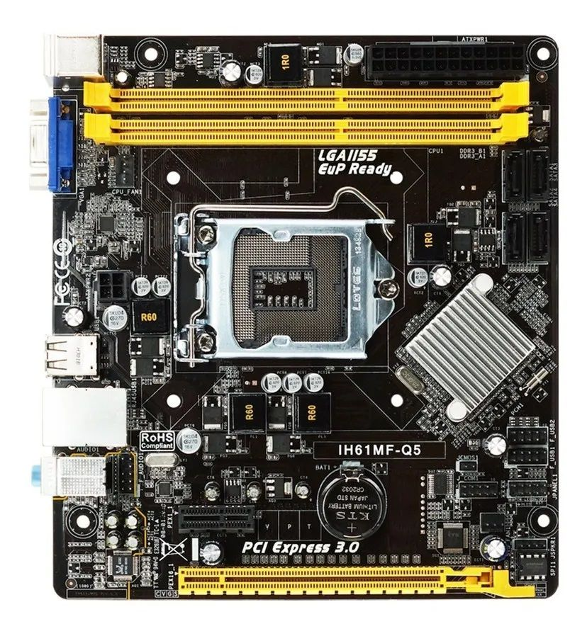 Placa Mae Biostar IH61MF-Q5, Socket LGA 1155, Chipset Intel H61