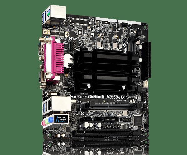 Placa Mãe Asrock J4005B-ITX, Com Processador Dual Core, Mini ATX, DDR4