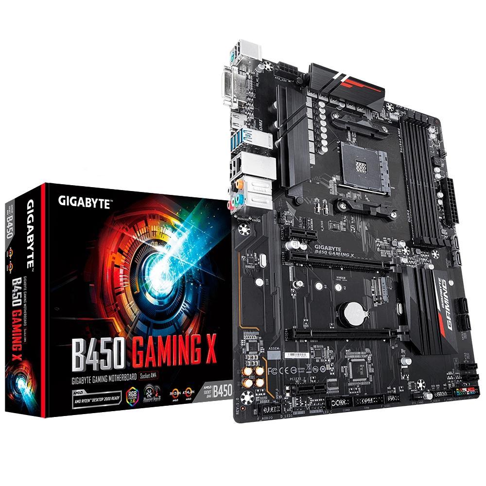 Placa Mãe Gigabyte B450 Gaming X, AM4, ATX, DDR4