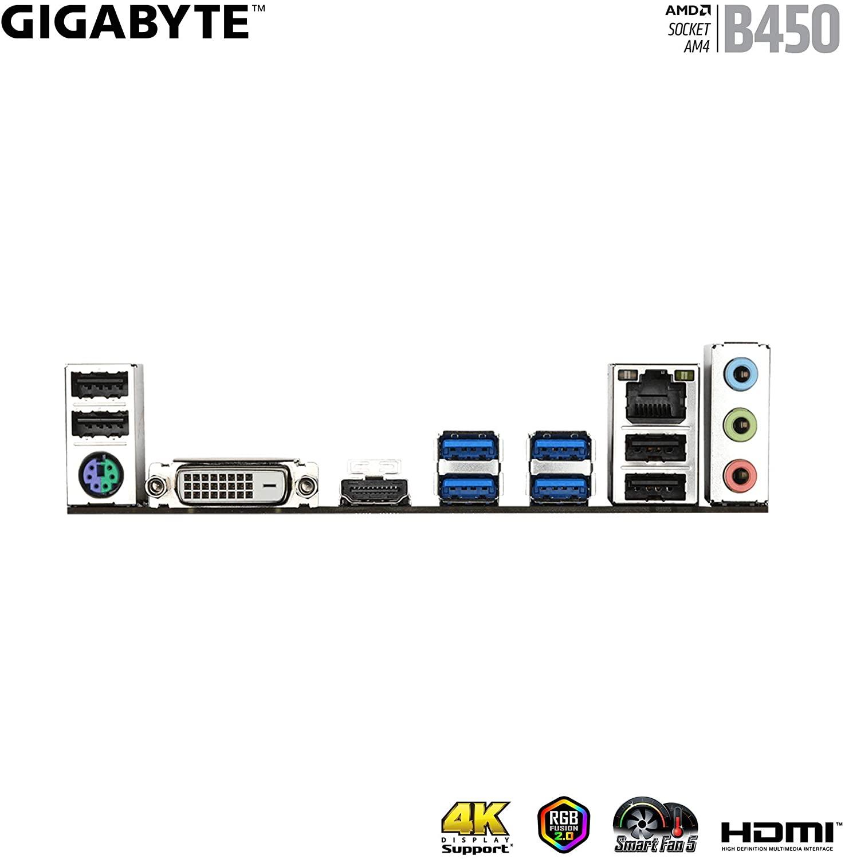 Placa Mãe Gigabyte B450M DS3H V2, AM4, DDR4, HDMI, MicroATX