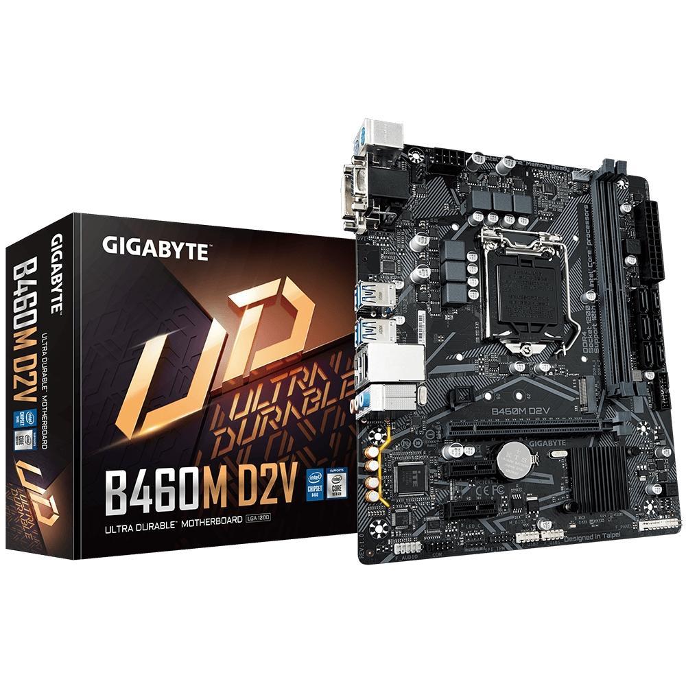 Placa Mãe Gigabyte B460M D2V, Intel LGA1200, Micro ATX, DDR4