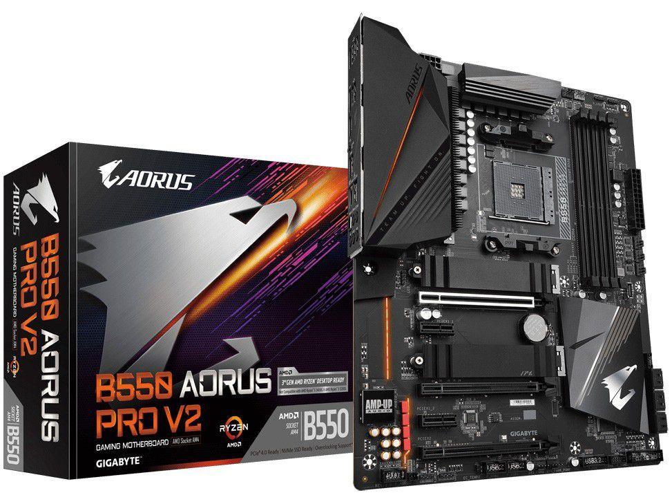 Placa Mãe Gigabyte B550 Aorus Pro V2 1.0, AMD AM4, DDR4, ATX