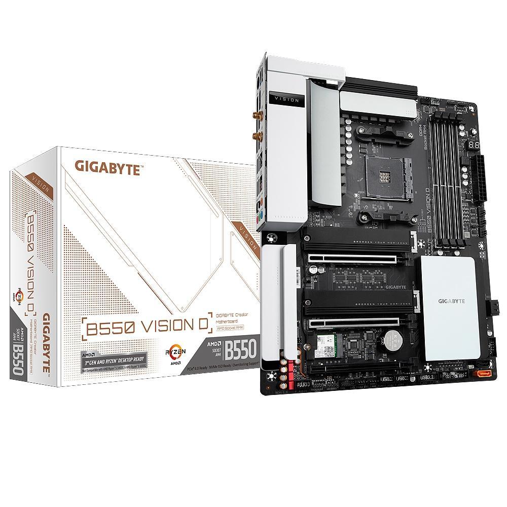 Placa Mãe Gigabyte B550 VISION D, AMD AM4, DDR4
