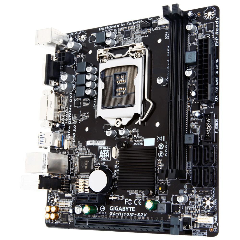 Placa Mãe Gigabyte GA-H110M-S2V, Intel LGA 1151, mATX, DDR4