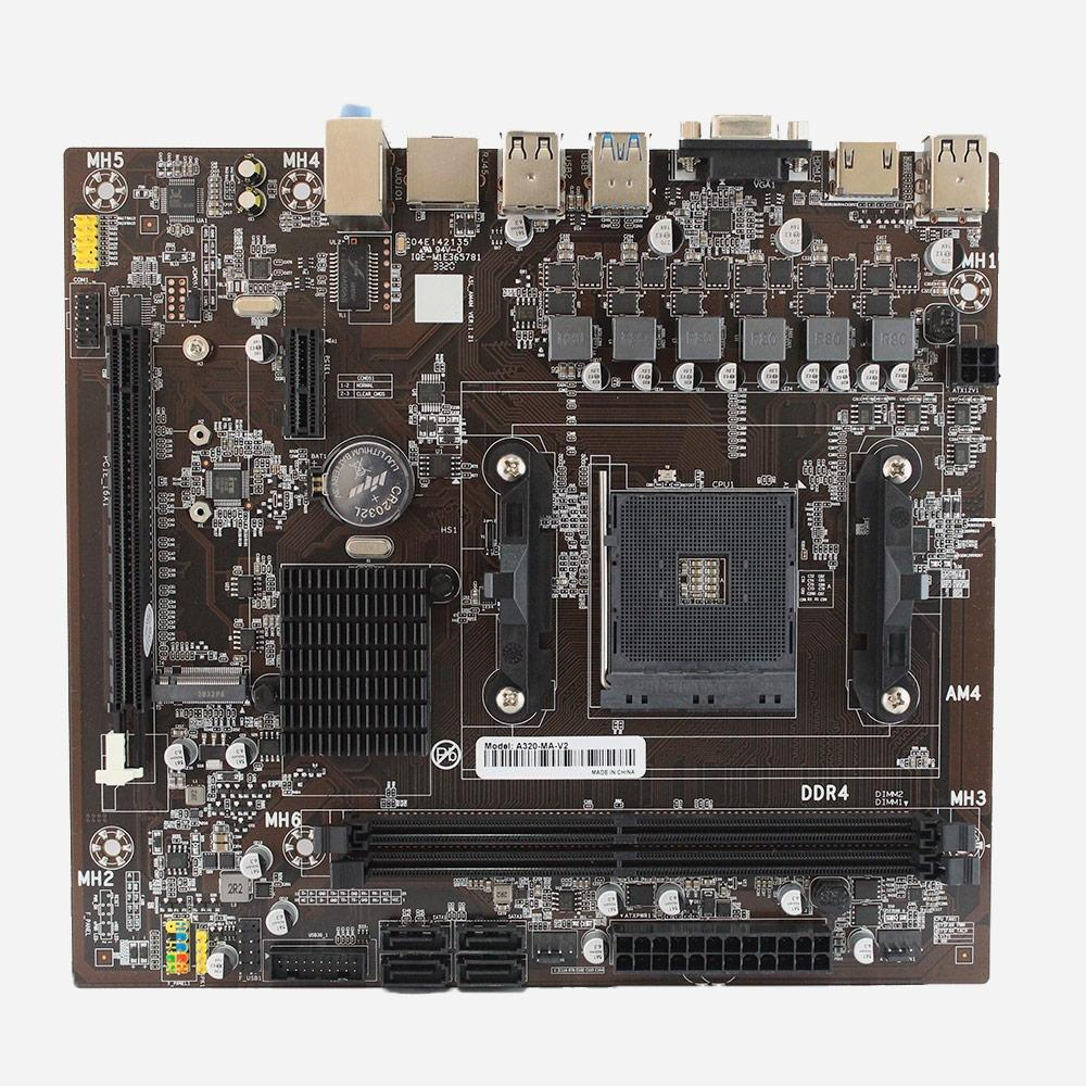 Placa Mãe Micro ATX AFOX AMD Ryzen AM4 AMD A320 VGA, HDMI, USB 3.0, DDR4 - A320-MA-V2