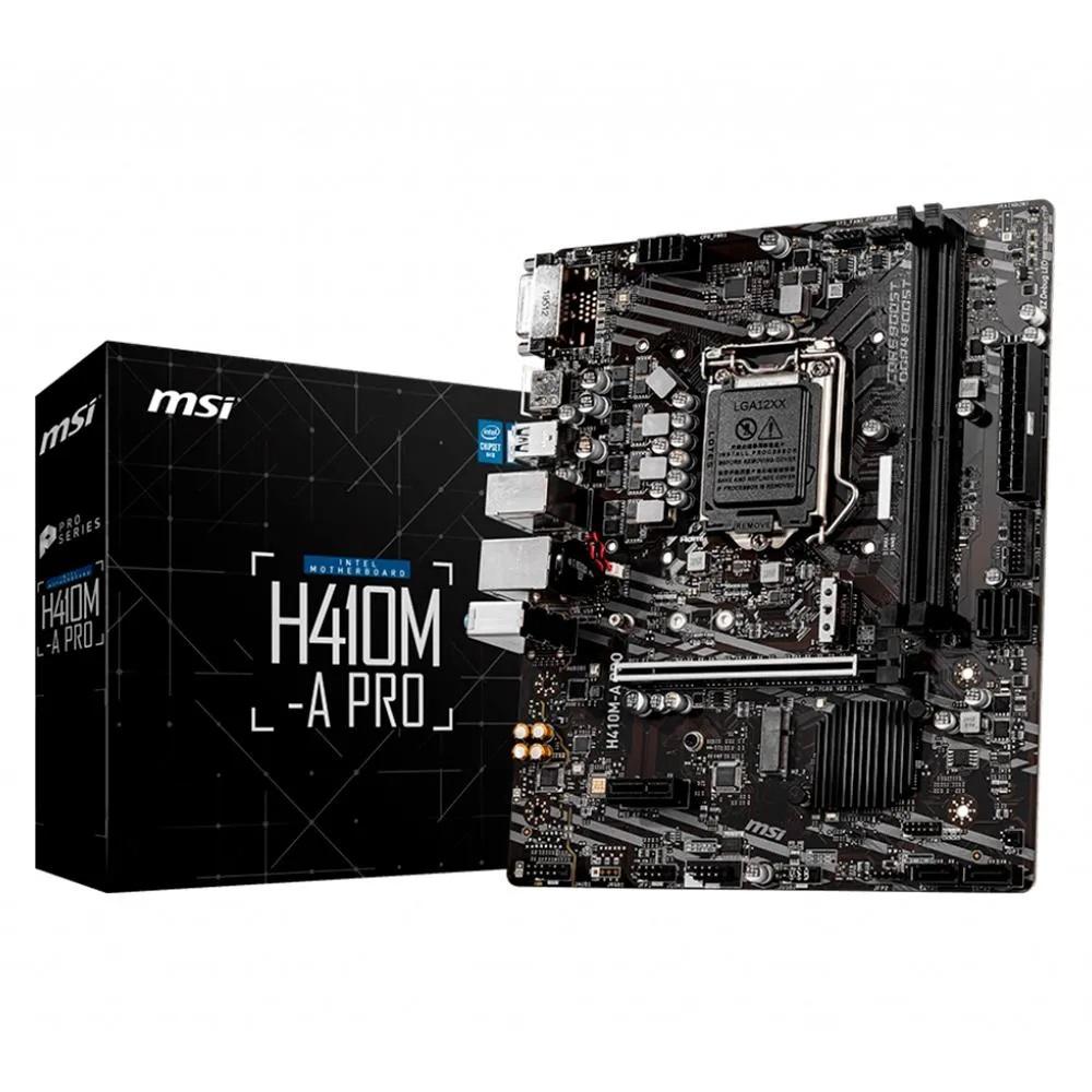Placa Mãe MSI H410M-A Pro, Intel LGA 1200, mATX