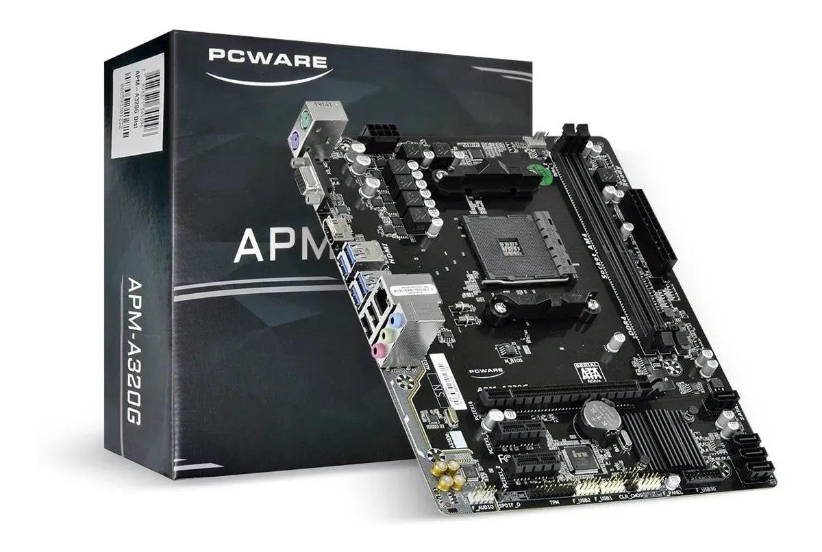 Placa Mãe PCWare APM-A320G, AM4, DDR4, AMD A320