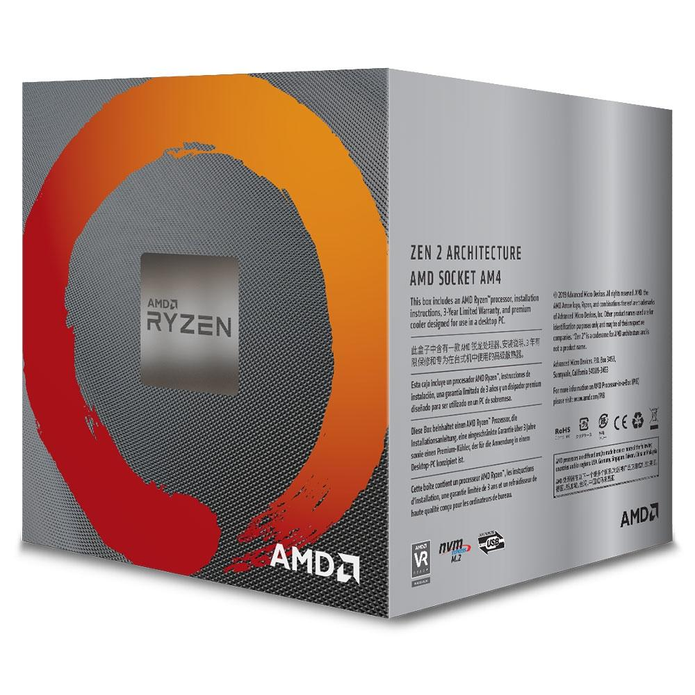 Processador AMD Ryzen 5 3600X Cache 35MB 3.8GHz (4.4GHz Max Turbo) AM4, Sem Vídeo - 100-100000022BOX