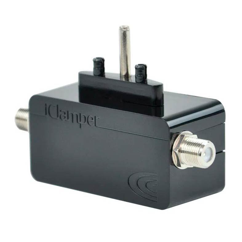 Protetor Eletrico DPS Clamper iClamper Cabo Proteção Coaxial Preto - 009908