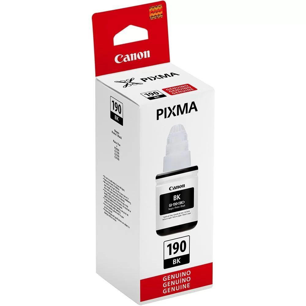 Refil de Tinta Canon Preto 6.000 Páginas GI-190 BK