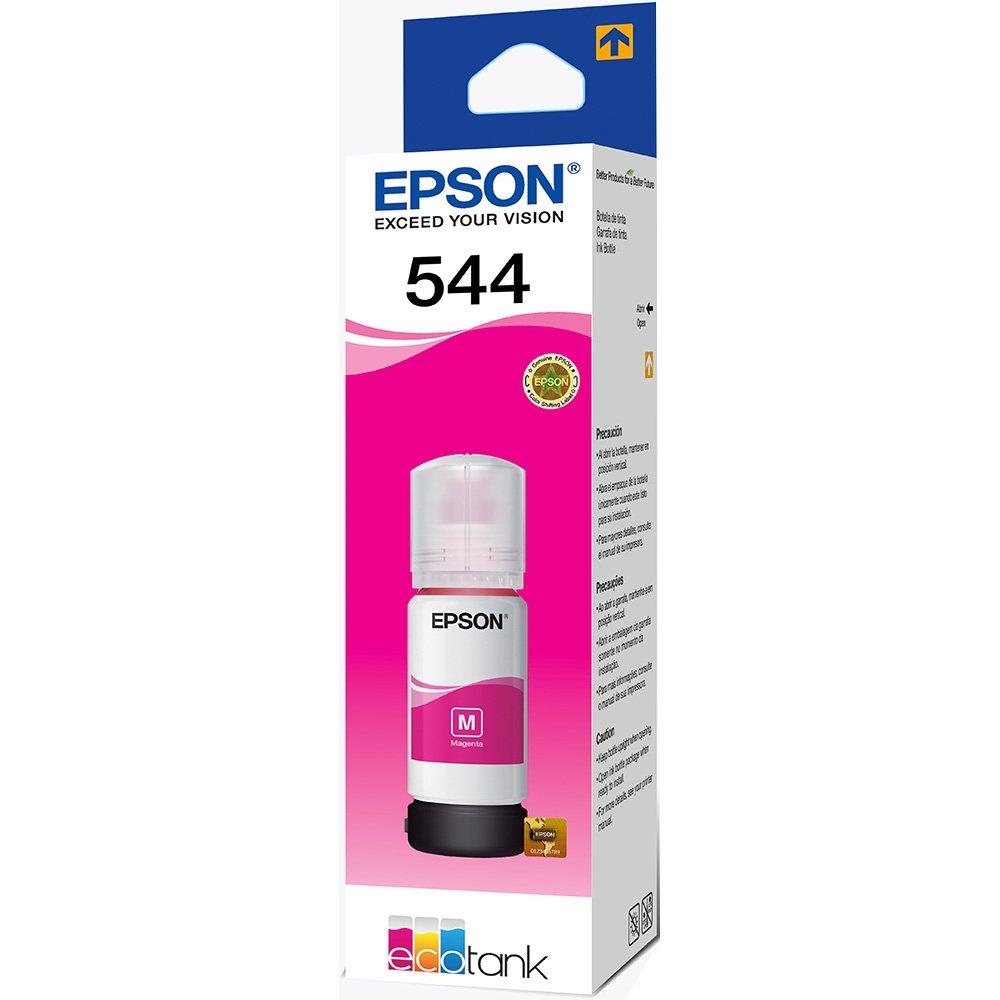 Refil de Tinta Epson 544, 65ml, Magenta - T544320
