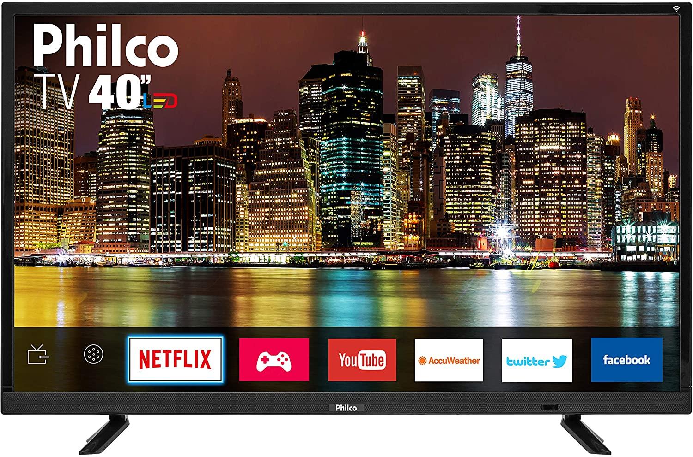 """Smart TV LED 40"""" Philco Full HD PTV40E21DSWN - Conversor Digital Wi-Fi 2 HDMI 2 USB"""