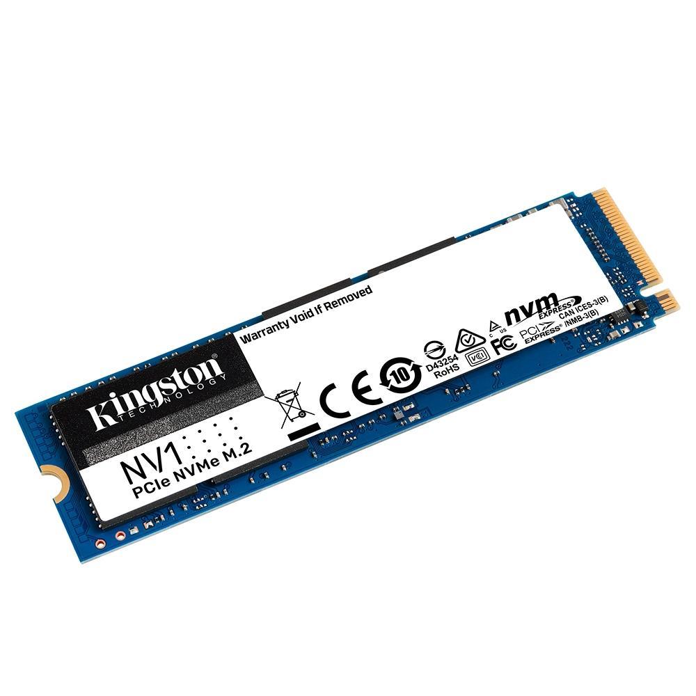 SSD Kingston NV1 1TB,M.2 2280 NVMe, Leitura: 2100MB/s e Gravação: 1700MB/s - SNVS/1000G