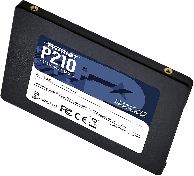 SSD Patriot P210, 256GB, Sata III, Leitura 500MB/s e Gravação 400MB/s - P210S256G25