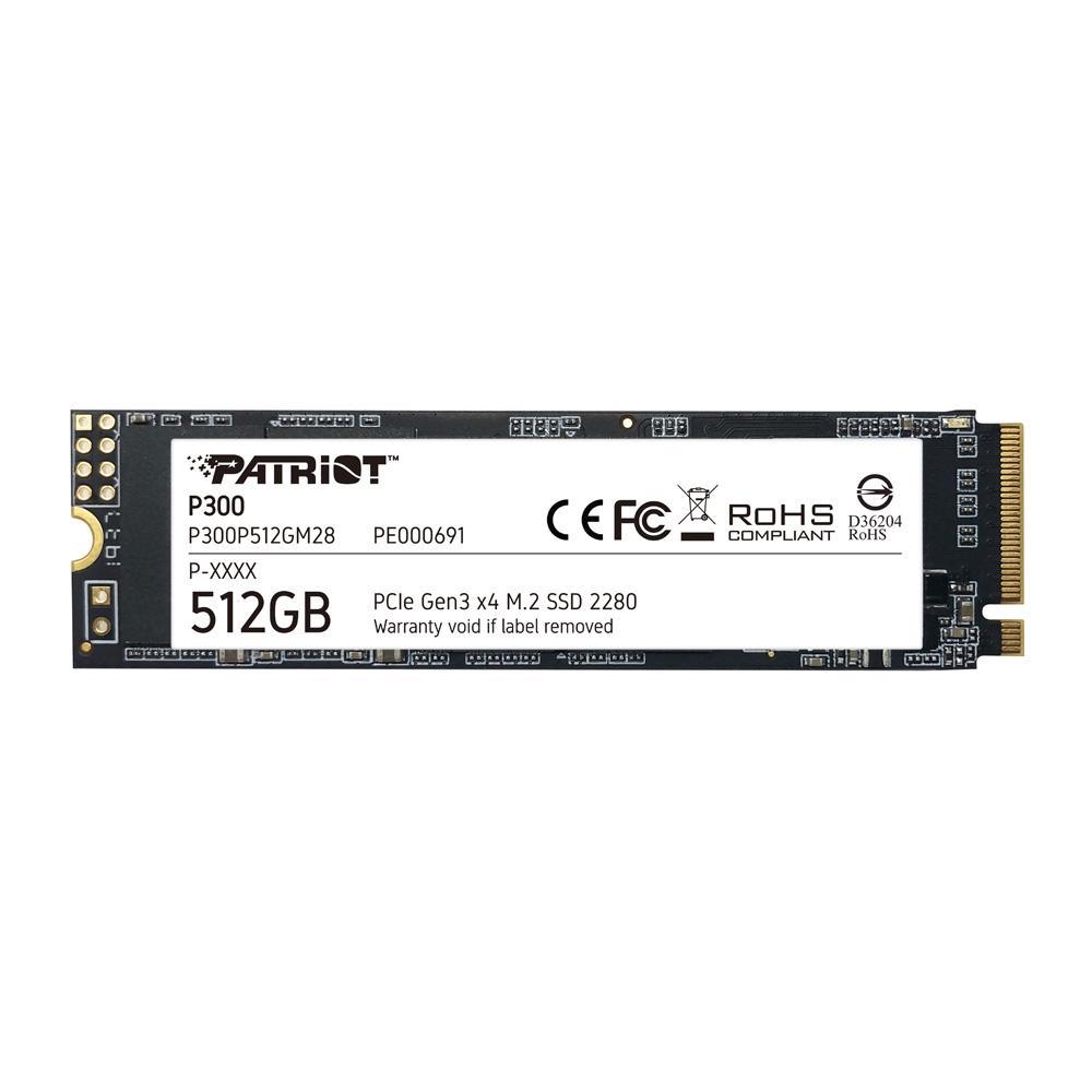 SSD Patriot P300 512GB, M.2 2280 PCIe GEN3X4 - P300P512GM28