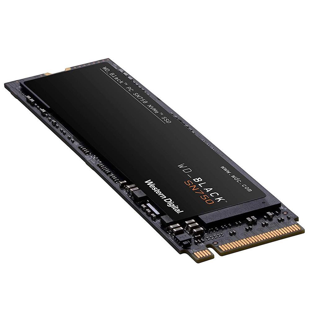SSD WD Black SN750, 500GB, M.2, NVMe, Leitura 3430MB/s, Gravação 2600MB/s - WDS500G3X0C