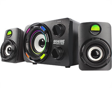 Subwoofer Gamer K-Mex SS-9800 LED Multicolor 2.1 Stereo