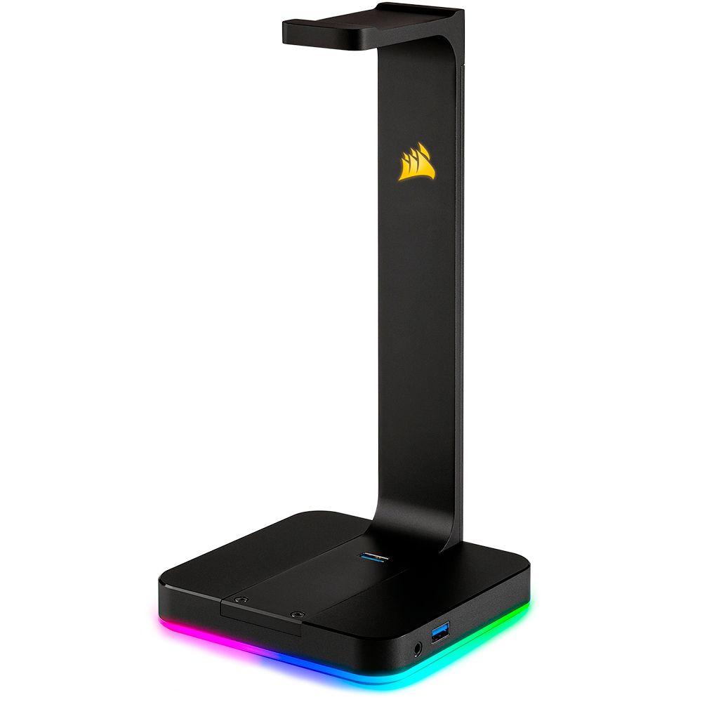 Suporte para Headset Gamer Corsair USB Surround 7.1, RGB, Preto ST100 - CA-9011167