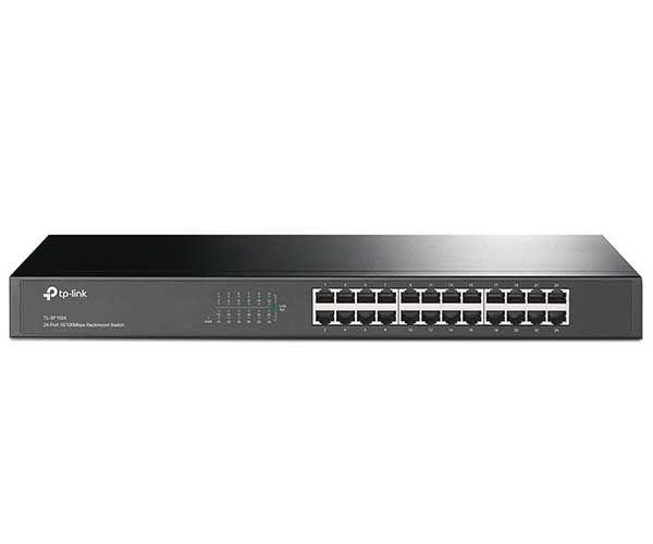Switch 10/100 TL-SF1024 Plug & Play, 24 Portas RJ45 Para Mesa - TP Link
