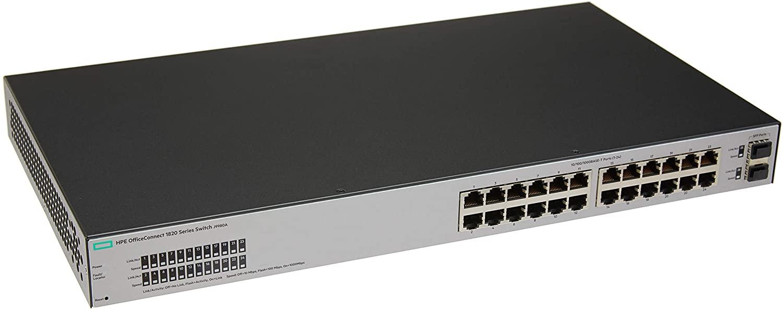 Switch 1820 24 Portas 2-SFP L2 Gerenciável, HPE Aruba, Switches de Rede