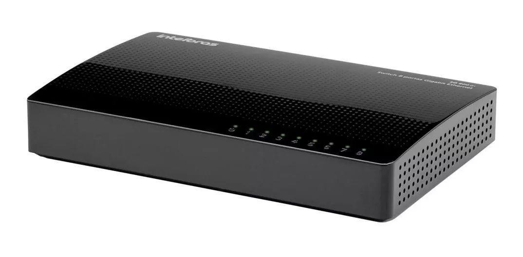 Switch 8P 10/100/1000 Sg800Q+ Intelbras