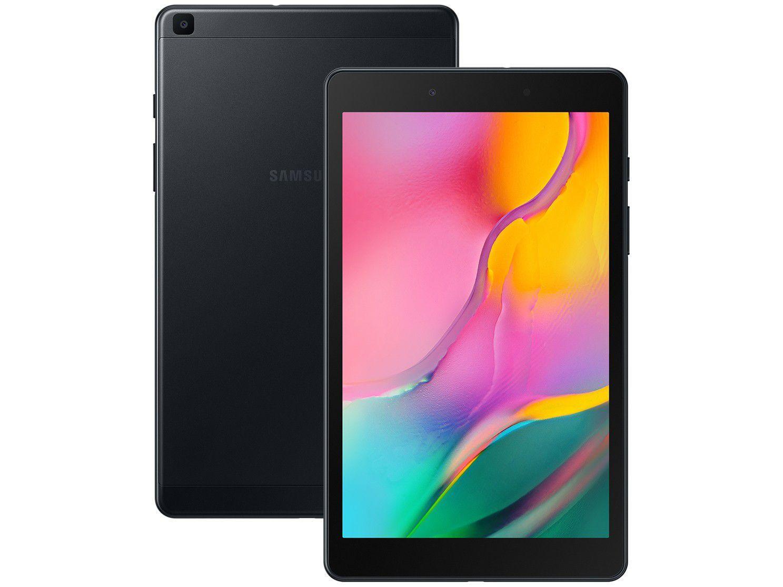 """Tablet Samsung Galaxy Tab A 8"""" T290 Wi-Fi, 32GB, 2GB RAM, Tela de 8"""", Câmera Traseira 8MP, Câmera Frontal de 2MP e Android 9.0 - Preto"""