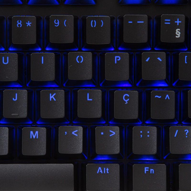 Teclado Mecânico Gamer HP GK400F, LED Azul, ABNT2 - 7ZZ93AA#AC4