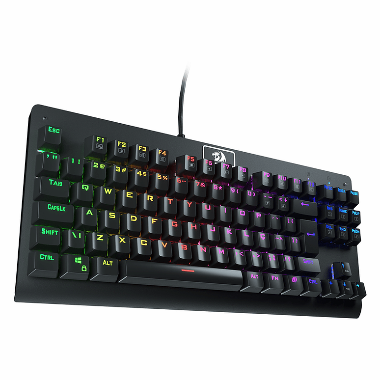 Teclado Mecânico Gamer Redragon Dark Avenger, RGB, Switch Outemu Red, ABNT2 - K568RGB-2 PT-BLACK