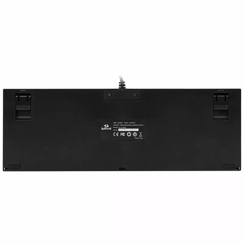 Teclado Mecânico Gamer Redragon Kumara K552 RGB, Switch Red, ABNT2, Black - K552RGB-1 PT-RED