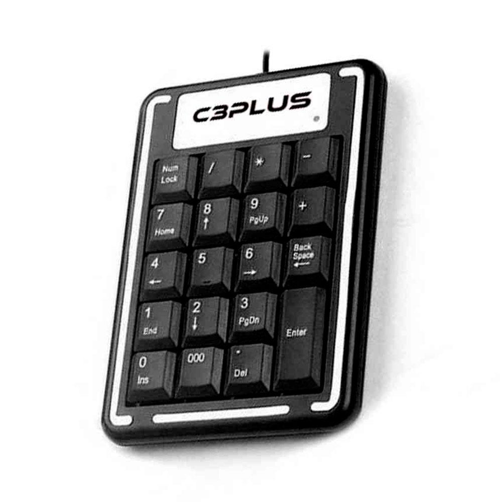 Teclado Numérico C3Plus, USB, Preto - KN-11BK